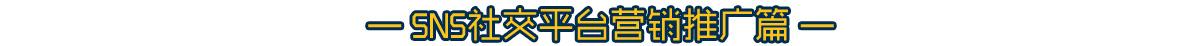 技术资讯-SNS社交平台营销推广