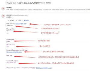 Gmail收到Contact Form表单询盘详情