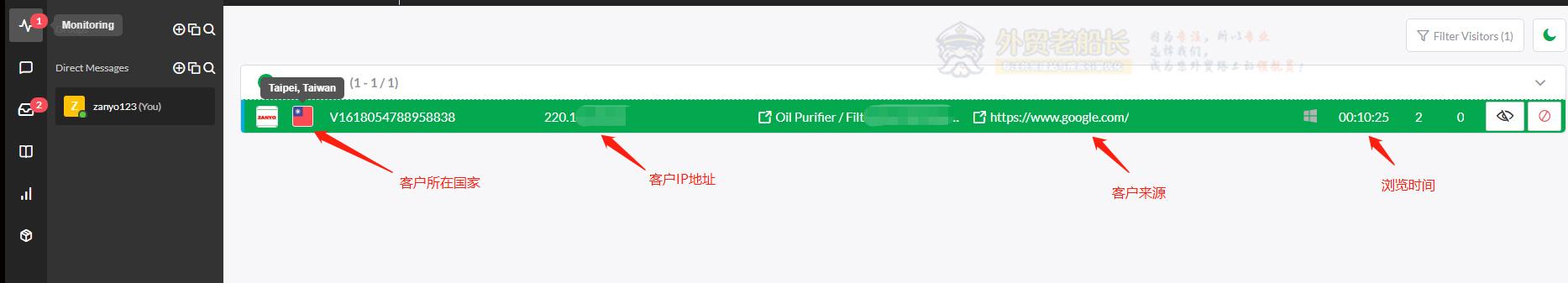 外贸网站在线聊天软件使用介绍-外贸老船长-Monitoring-01