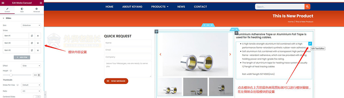 10-Elementor外贸网站页面内容替换更新